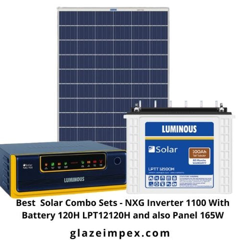Best  Solar Combo Sets - NXG Inverter 1100 With Battery 120H LPT12120H and also Panel 165W