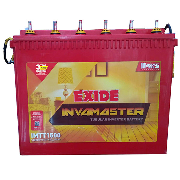 Exide inva master imtt1500 150ah Tubular Battery Warranty 54 months at Best Price In India