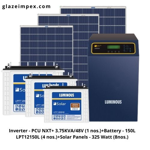 Luminous 3KVA Off-Grid Solar Price In India | Solar Inveter, Battery, Panel