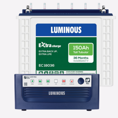 Luminous Neo Eco Watt 1050 Inverter With 150ah EC18036 Battery