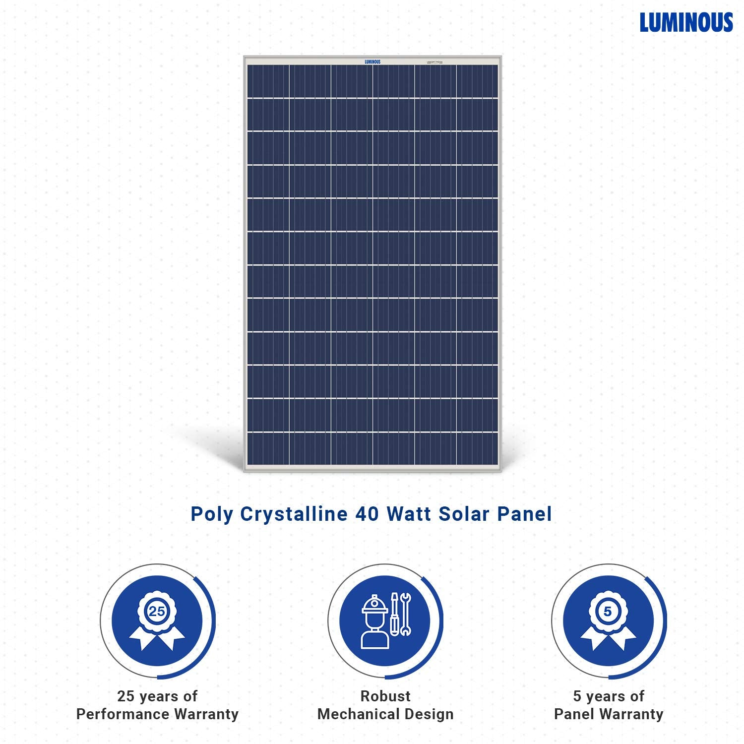 Luminous Solar PV Panel 40W/12V