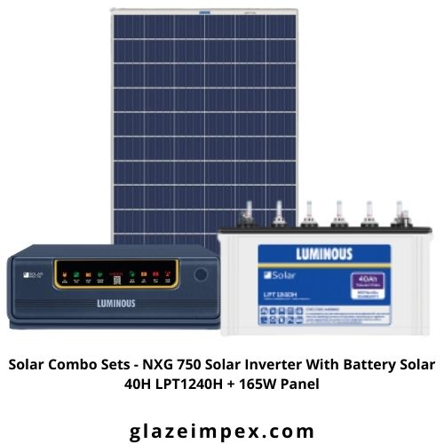 Solar Combo Sets - NXG 750 Solar Inverter With Battery Solar 40H LPT1240H + 165W Panel