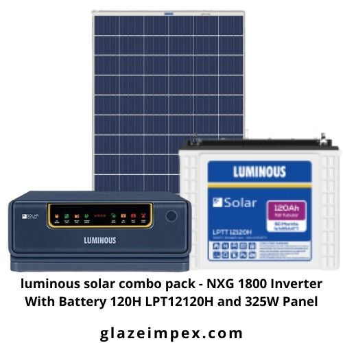 luminous solar combo pack - NXG 1800 Inverter With Battery 120H LPT12120H and 325W Panel