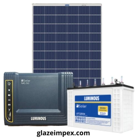 luminous solar combo pack NXG 350 Inverter With 60H Battery And 105W Panel