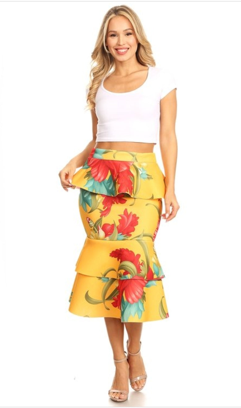 Cuban peplum skirt