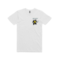 GUN CAT / WHITE T-SHIRT