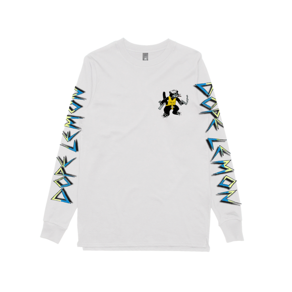 GUN CAT / WHITE LONGSLEEVE T-SHIRT