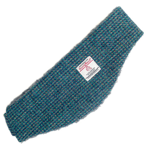 Harris Tweed Blue & Fawn Twill Ear Warmer