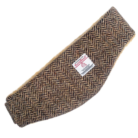Harris Tweed Brown & Beige Herringbone Ear Warmer