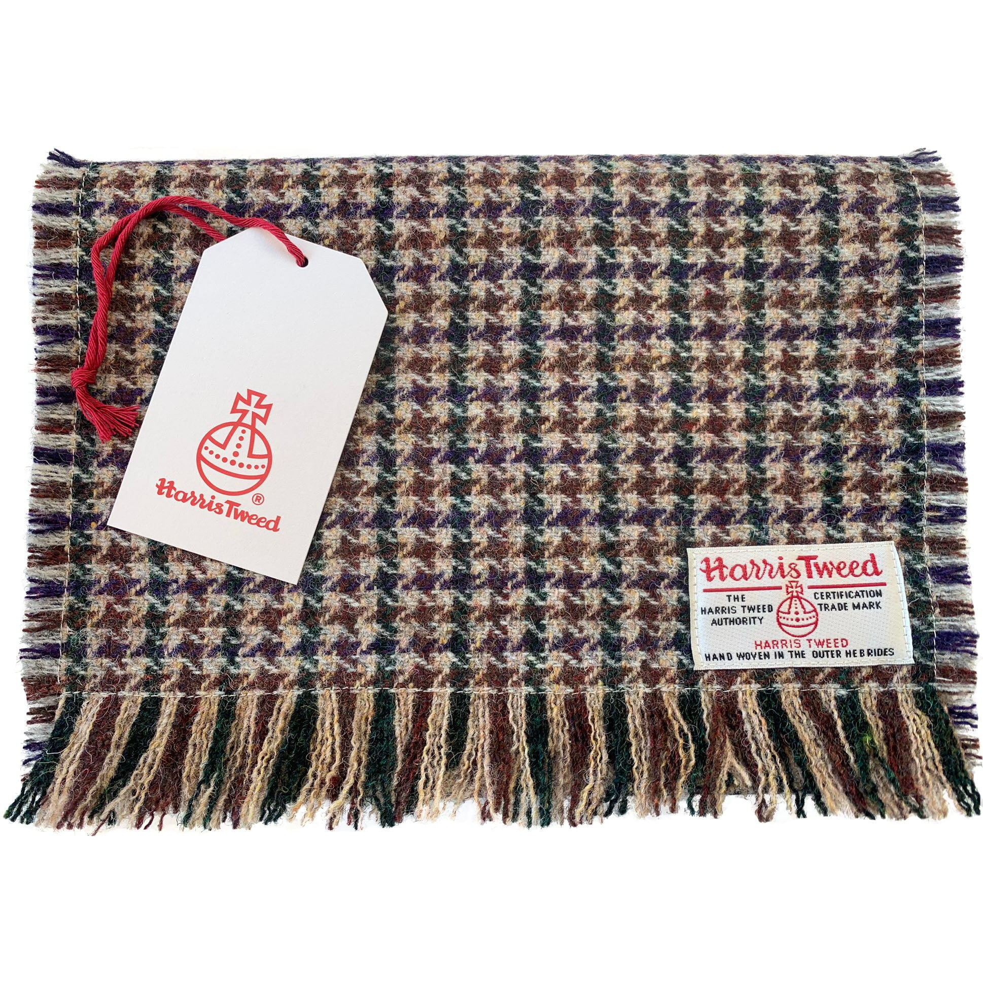 Harris Tweed Glen Houndstooth Scarf
