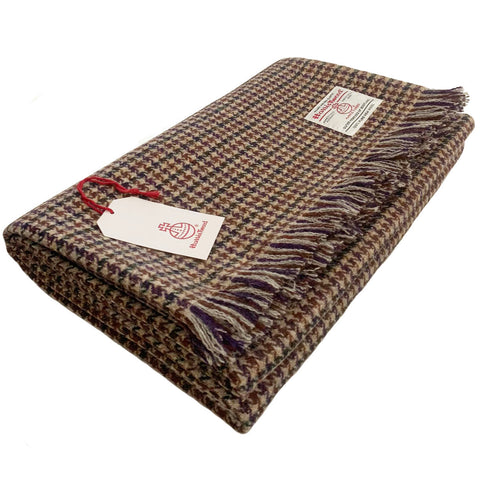 Harris Tweed Extra Large Glen Houndstooth Throw