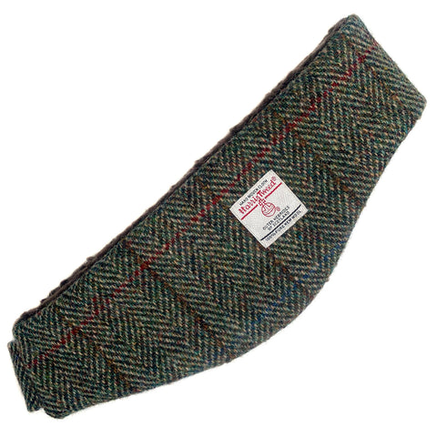 Harris Tweed Green & Fawn Herringbone Ear Warmer