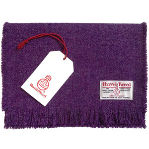 Harris Tweed Heather Purple Scarf
