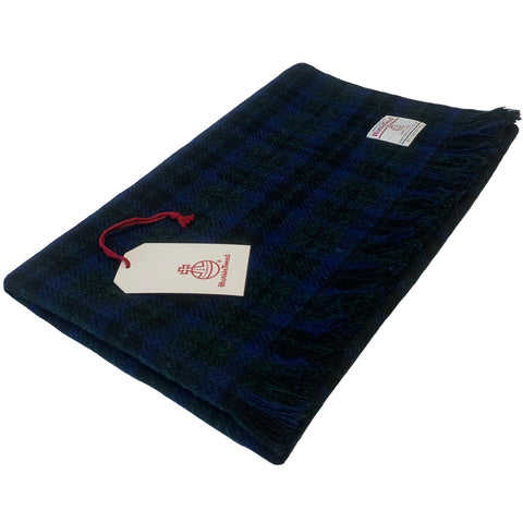Harris Tweed Blue & Green Tartan Check Lap Blanket