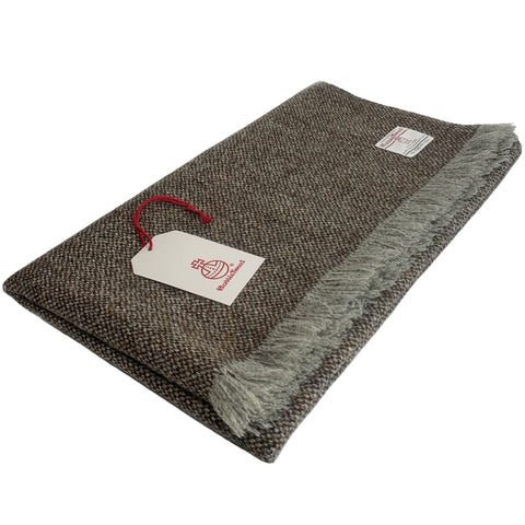 Harris Tweed Brown & Grey Barleycorn Lap Blanket