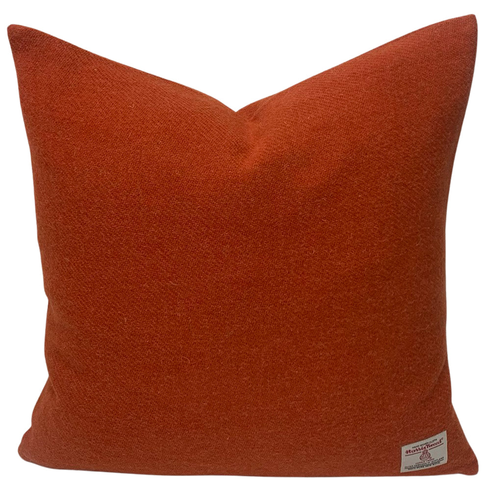 "Harris Tweed Burnt Orange 18""/45cm Square Cushion"