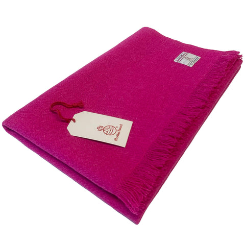 Harris Tweed Fuchsia Pink Lap Blanket