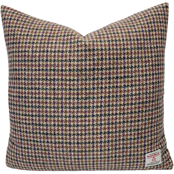 "Harris Tweed Glen Houndstooth 45cm/18"" Cushion with Feath"