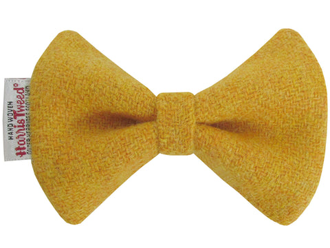Harris Tweed Mustard Yellow Dog Bow Tie