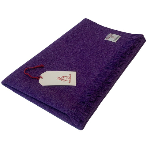 Harris Tweed Purple Lap Blanket