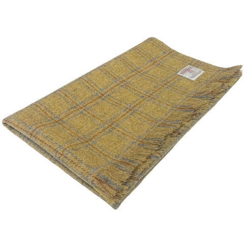 Mustard Beige with Overcheck Lap Blanket