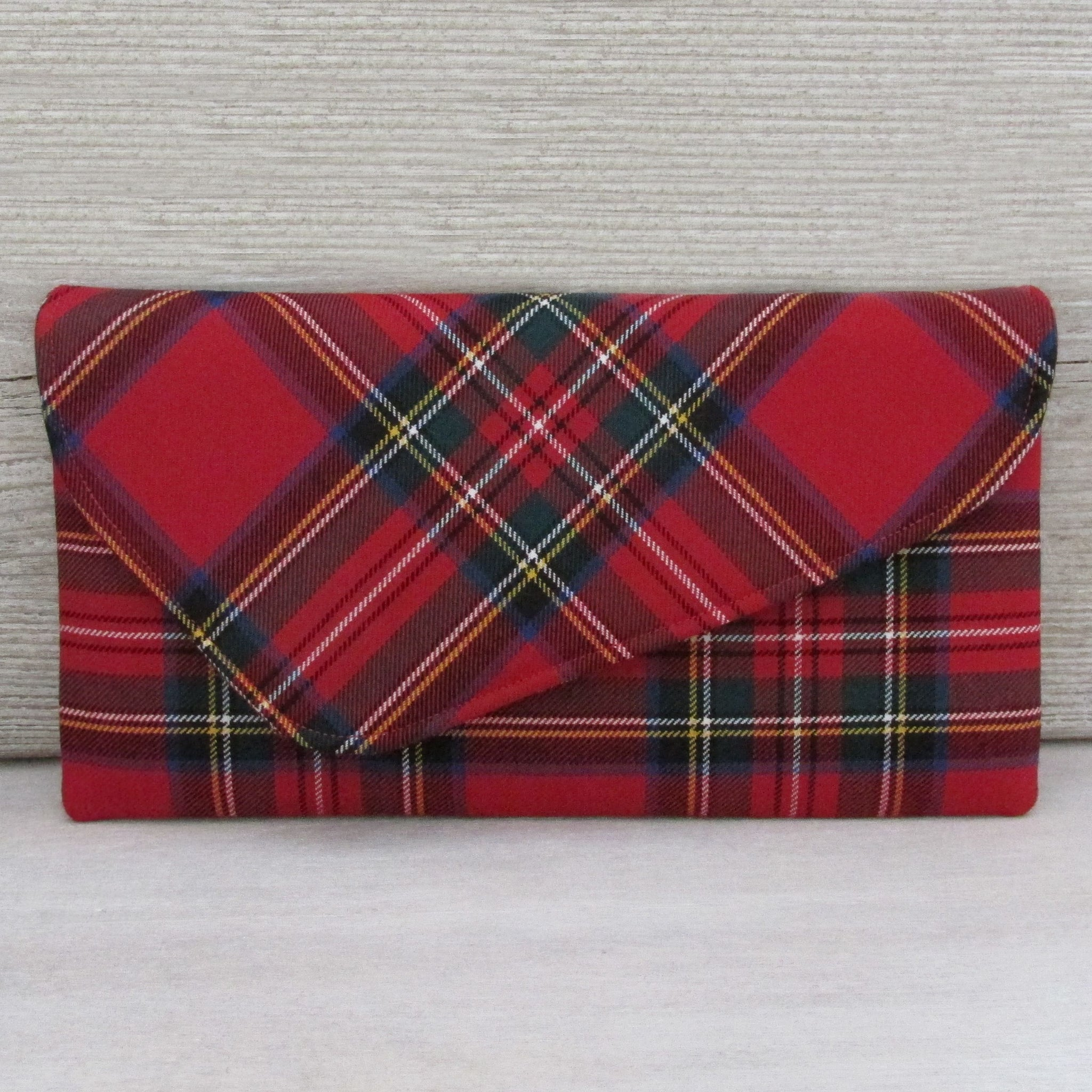 Royal Stewart Asymmetric Clutch Bag