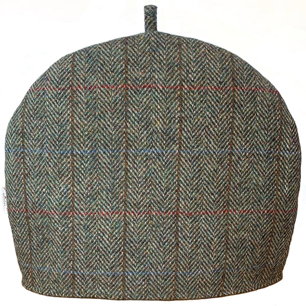 Harris Tweed Green & Fawn Herringbone Tea Cosy