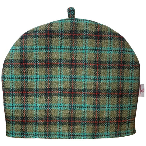 Harris Tweed Lovat & Red Check Tea Cosy