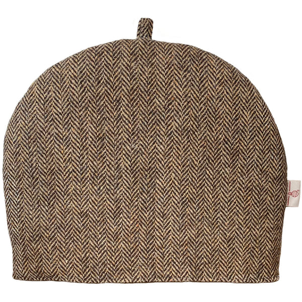 Harris Tweed Brown & Beige Herringbone Tea Cosy