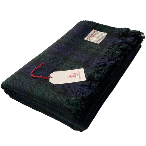 Harris Tweed Extra Large Black Watch Tartan Throw