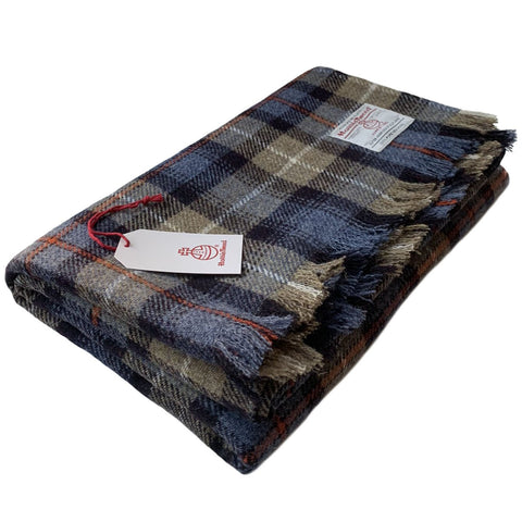 Harris Tweed Extra Large MacKenzie Tartan Throw