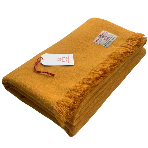 Harris Tweed Extra Large Mustard Throw