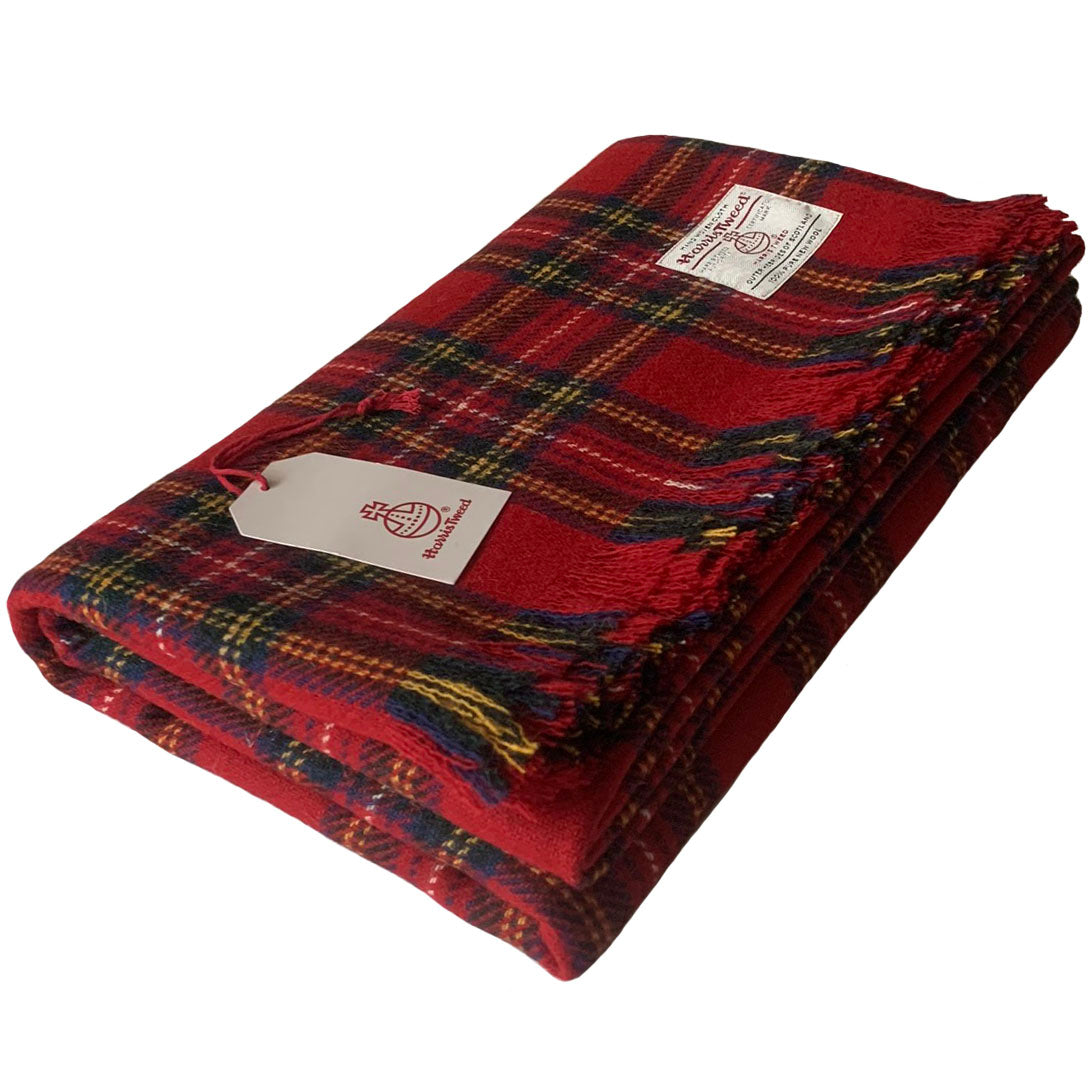 Harris Tweed Extra Large Royal Stewart Tartan Throw