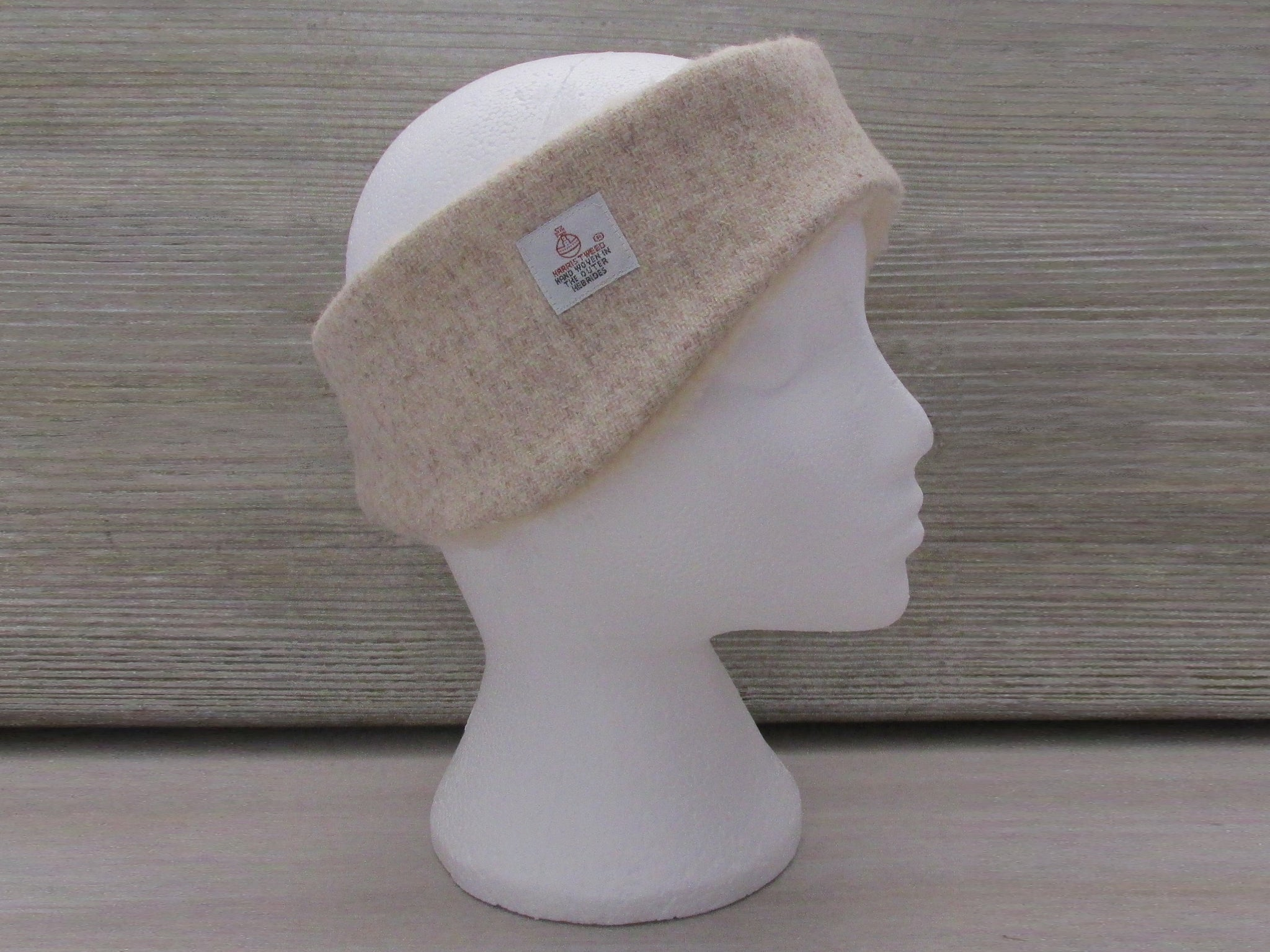Harris Tweed Oatmeal Beige Ear Warmer