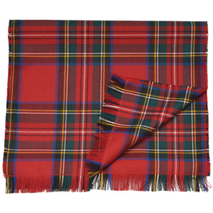 Royal Stewart Tartan Pure Wool Lightweight Scarf