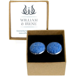 Harris Tweed Denim Blue Cufflinks