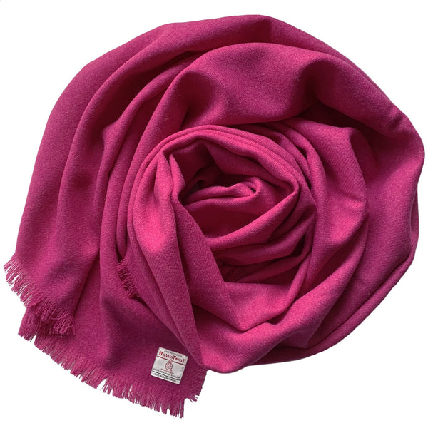 Harris Tweed Fuchsia Pink Wrap