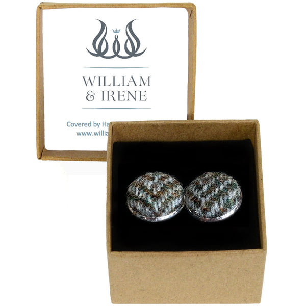 Harris Tweed Highland Herringbone Cufflinks
