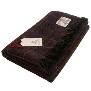 Harris Tweed Extra Large Throw in Tartan by Midnight