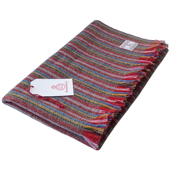 Harris Tweed Muted Multi Stripe Lap Blanket