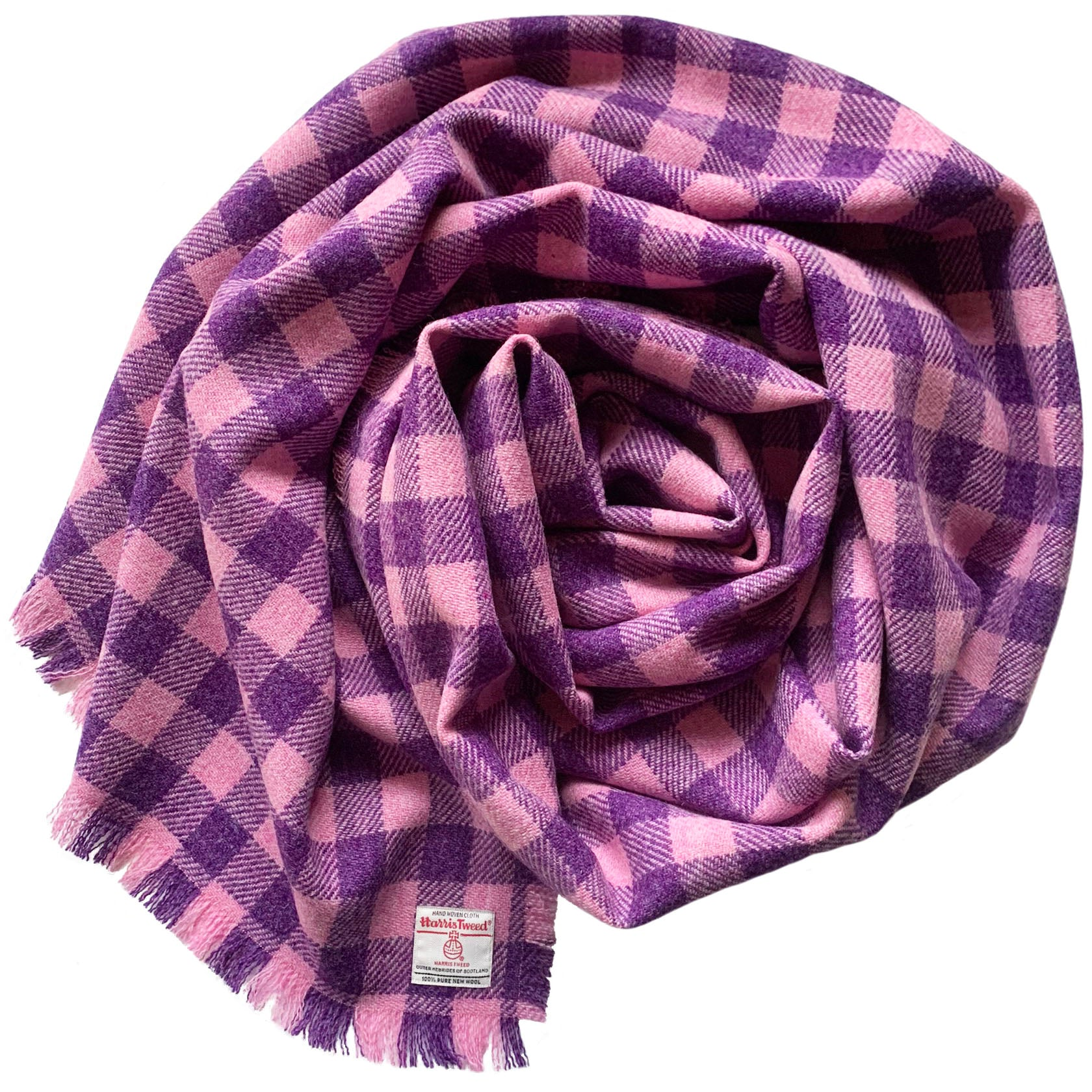 Pink & Purple Check Wrap