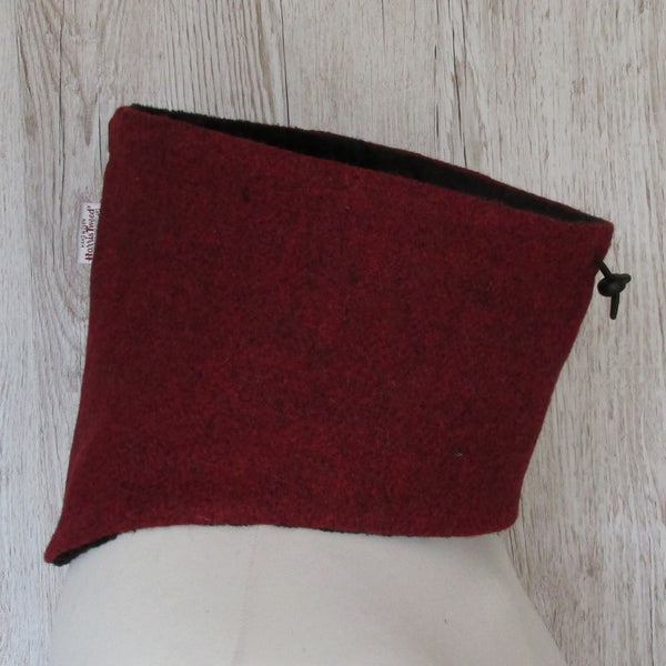 Harris Tweed Wine Red Neck Warmer