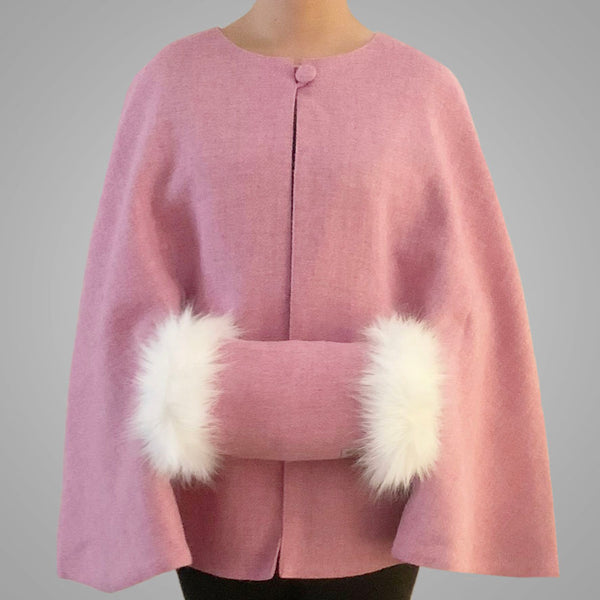 Blush Pink Tailored Cape