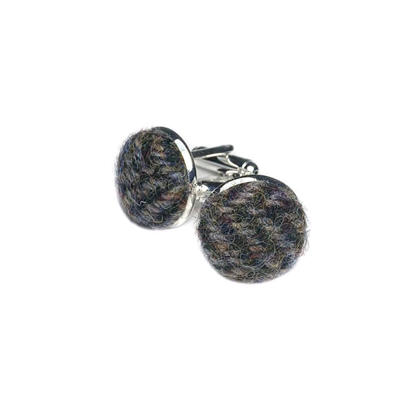 Harris Tweed Woodland Herringbone Cufflinks