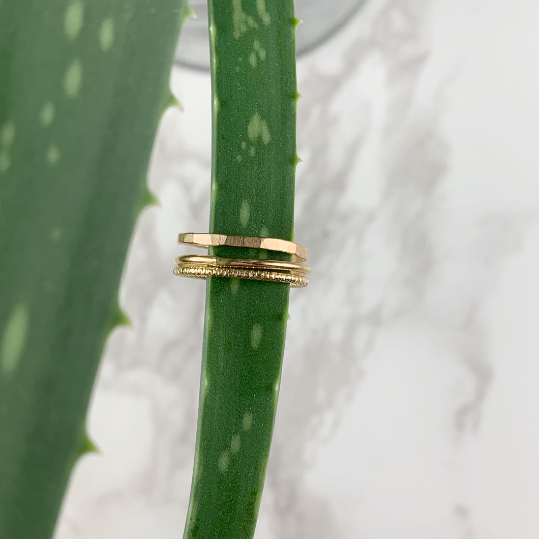 Gold Smooth Stacking Ring