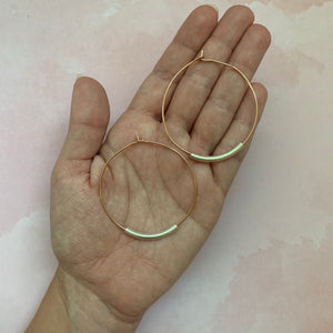 Stella Rose Gold Hoops