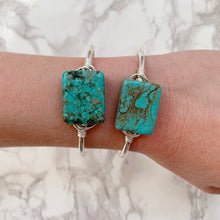 Load image into Gallery viewer, Turquoise Square Cuff