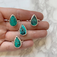 Load image into Gallery viewer, Turquoise Teardrop Ring