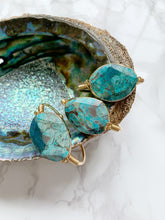 Load image into Gallery viewer, Blue Ocean Jasper Cuff, Gold or Silver