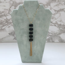 Load image into Gallery viewer, Long Natural Crystal Tassel Necklace